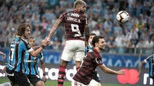 Gremio igualó en el final con Flamengo en el partido de ida