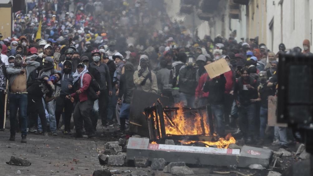 Las protestas en 2019 provocaron numerosos daños en Quito en 2019. Foto: Archivo