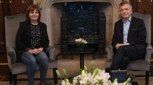 Macri repasó con Bullrich y Faurie las gestiones de los ministerios