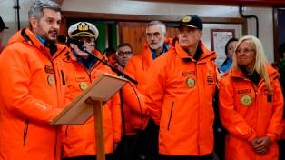 Peña encabezó en la Antártida el acto del 50 aniversario de la creación de la Base Marambio