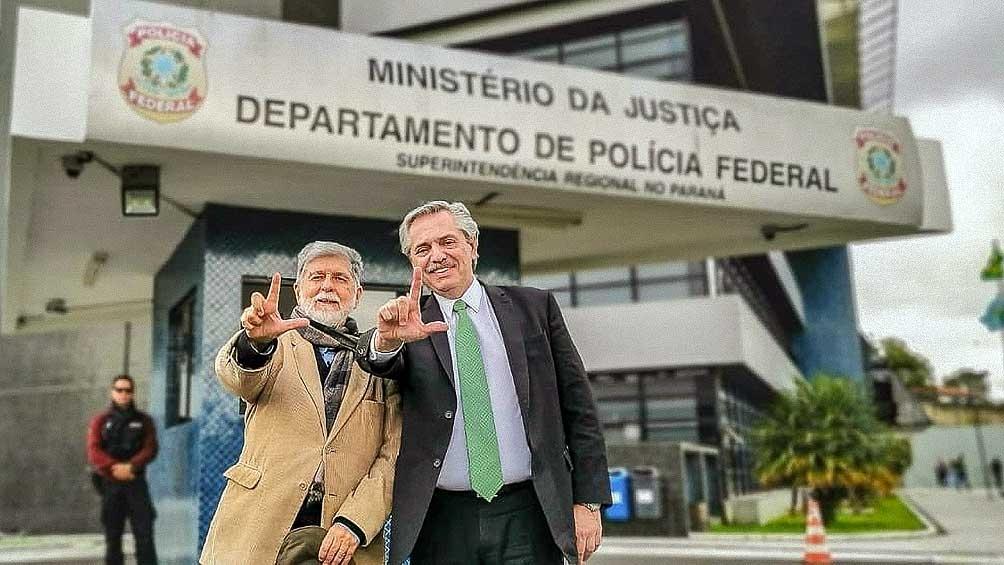 ALberto Fernández visitó a Lula durante su detención