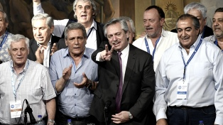 """""""El movimiento obrero es parte del gobierno que empieza el 10 de diciembre"""", dice Alberto Fernández"""