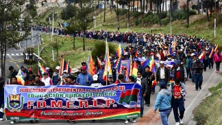 Protestas en Bolivia contra el gobierno de facto