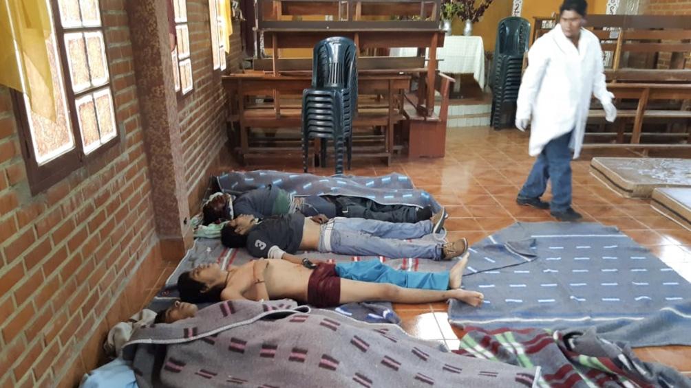 Niños asesinados por las fuerzas golpistas en Cochabamba,  Bolivia, durante la represión en que se habría usado armamento argentino.