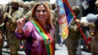 La presidenta de facto Jeanine Áñez
