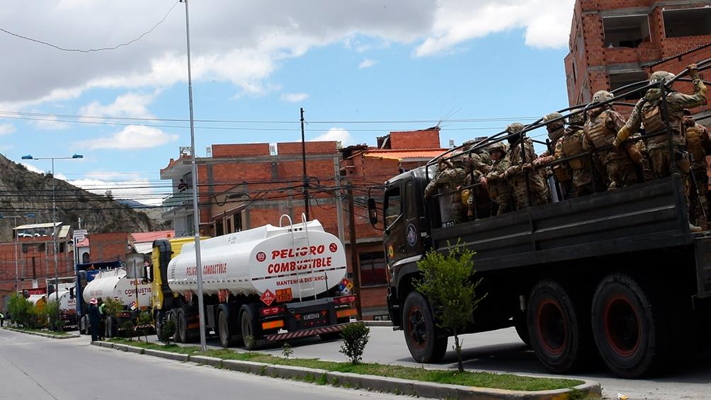 De acuerdo con información preliminar, entre el material conservado en un depósito de la Policía Boliviana hay granadas de gas, gas pimienta y munición calibre 12/70, entre otras.