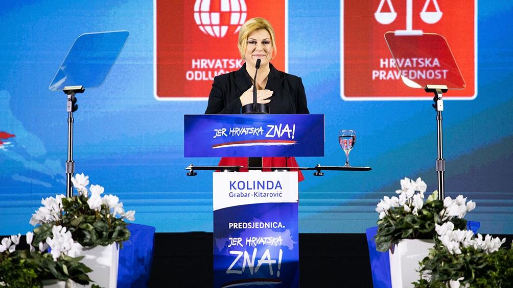 Kolinda Grabar Kitarovic, presidenta de Croacia