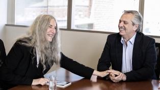 Alberto Fernández recibió a Patti Smith