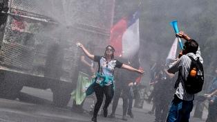 La Plaza Italia de Santiago, sede de festejos por el Año Nuevo con represión