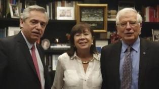 Alberto Fernández felicitó a Josep Borrell por su designación como jefe de la diplomacia de la UE