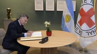 Macri se reunió con autoridades de la OMC y de la Cruz Roja