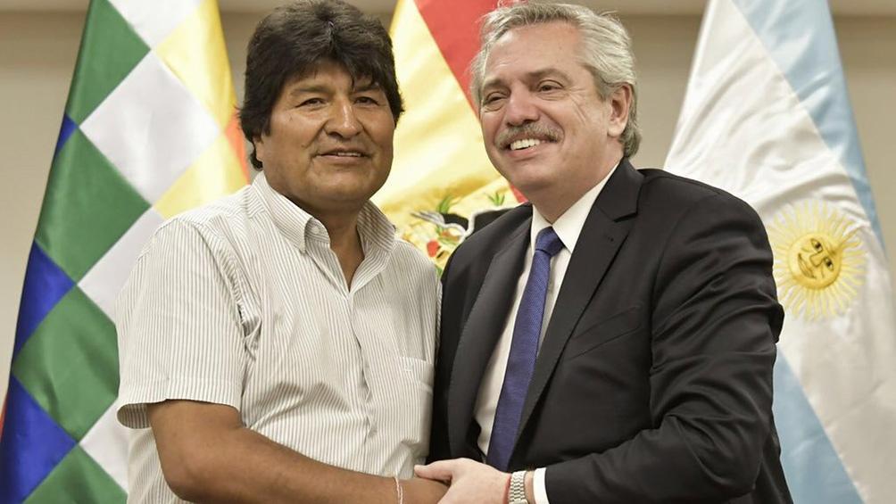 """Evo Morales agradeció a Alberto y Cristina Fernández por """"garantizar"""" su refugio en Argentina - Télam - Agencia Nacional de Noticias"""