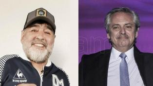 """Maradona dialogó con Alberto Fernández: """"Tiene cero soberbia"""""""