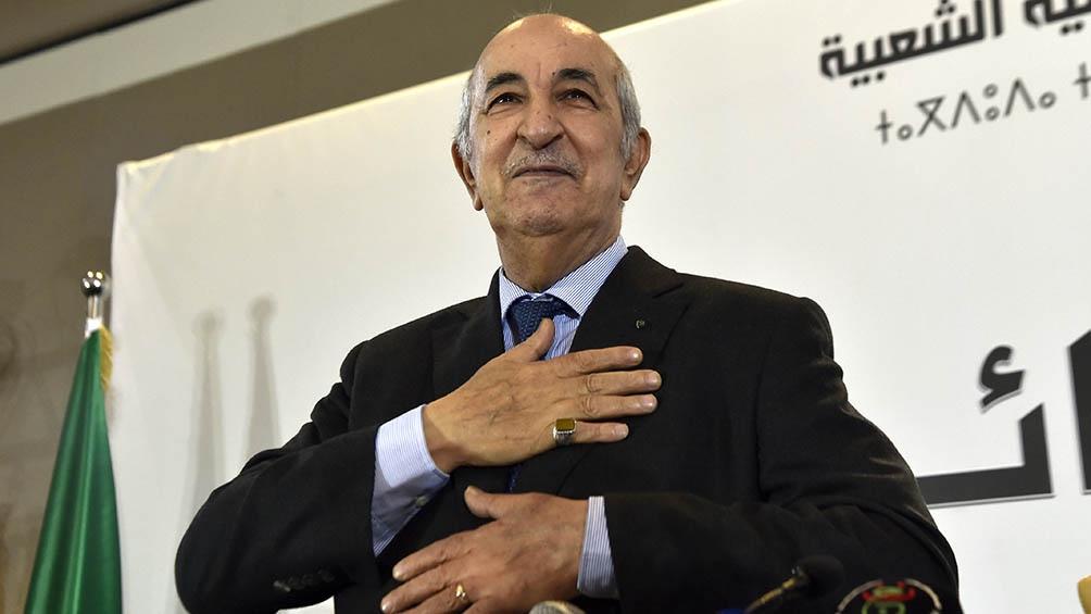 Internaron al presidente de Argelia, Abdelmajid Tebboun