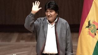 """Evo Morales fue declarado visitante Ilustre de Morón por su """"vocación transformadora"""""""
