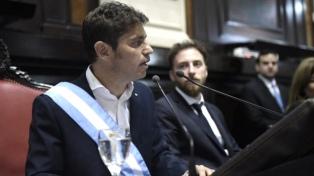 Kicillof abre las sesiones ordinarias de la Legislatura bonaerense