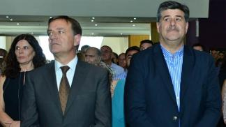 El gobernador Rodolfo Suárez y el vicegobernador Mario Abed.