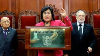 Marianella Ledesma Nárvaez, presidenta del Tribunal Constitucional de Perú