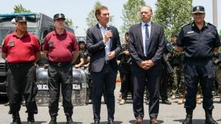 """Berni y Santilli destacaron el """"trabajo en conjunto"""" entre policías para esclarecer delitos"""