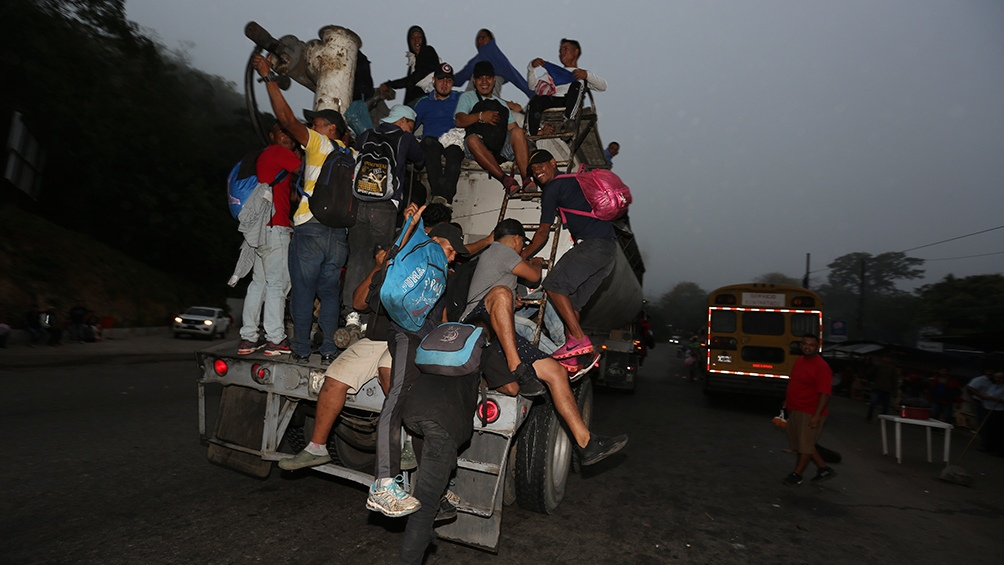 In previous years there were already caravans of Honduran migrants to the United States.