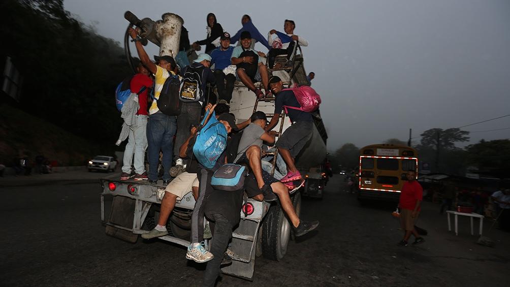 En años anteriores ya hubo caravanas de migrantes hondureños hacia Estados Unidos.