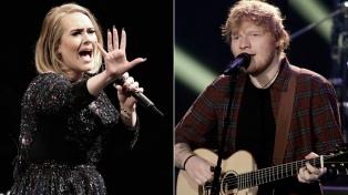 Adele y Ed Sheeran, los artistas de mayor éxito comercial en la última década