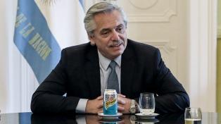 Fernández y parte de su comitiva se reunieron con el principal líder opositor israelí