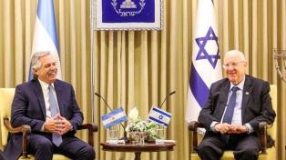 """Fernández calificó como """"muy positivo"""" su viaje de dos días a Israel"""