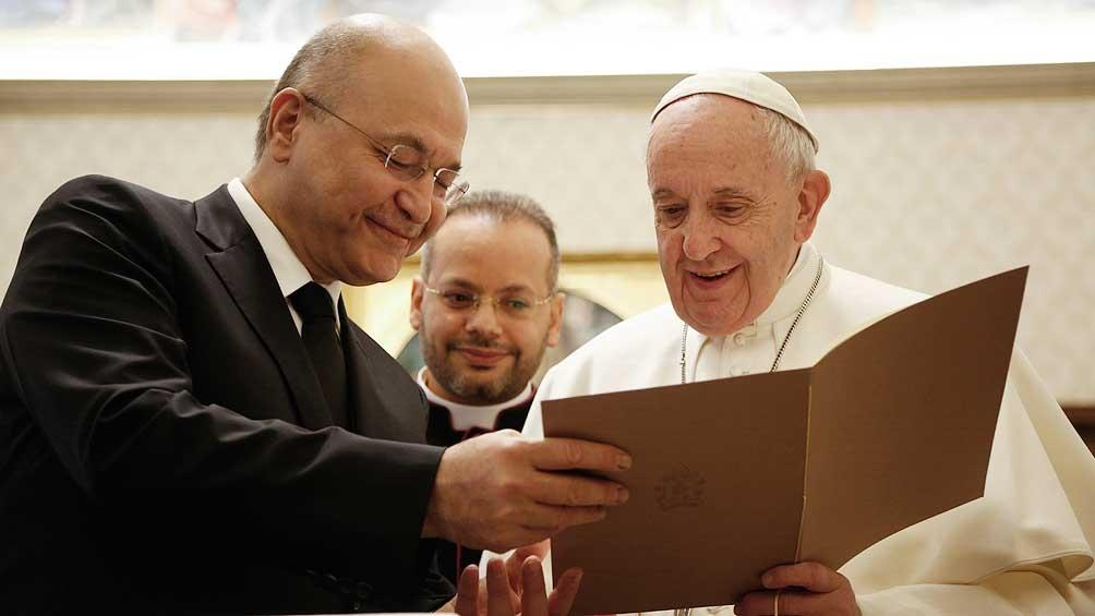 El papa dedicará el primer día de su viaje a reunirse con las autoridades políticas, incluido el presidente Barham Salih.