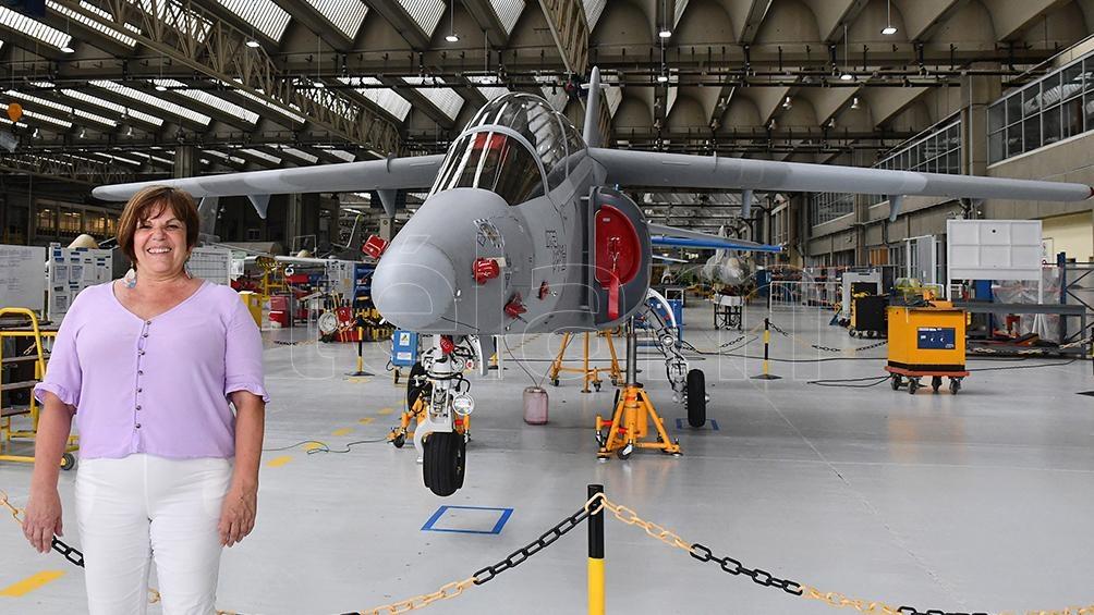 Mirta Iriondo presidenta de Fábrica Argentina de Aviones - FADEA