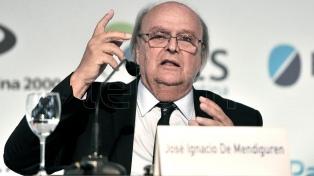 Designan a De Mendiguren como presidente del BICE