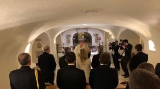 """Antes de ver al Papa, Alberto Fernández participó de una misa """"por la reconciliación"""""""