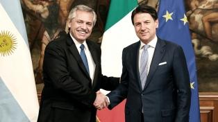 Fernández recibió de Italia un importante apoyo para resolver el problema de la deuda
