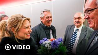 Fernández ya está en Alemania, segunda etapa de su gira, y se reúne con Merkel