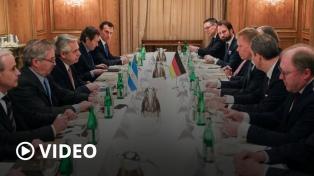 """""""Somos un paciente en terapia intensiva"""", dijo el Presidente a empresarios en Berlín"""