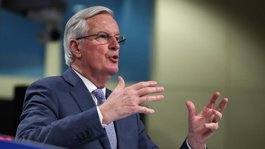 """Michel Barnier sostuvo que la Unión Europea """"se mantiene comprometida a una futura asociación ambiciosa""""."""