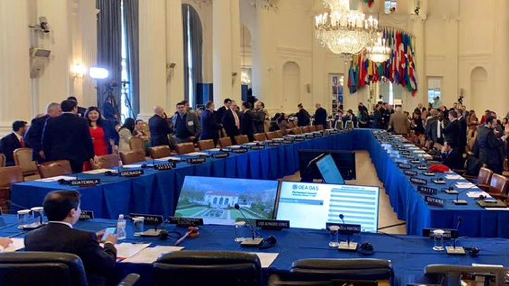 El organismo había convocado a su Consejo Permanente a una sesión virtual extraordinaria para este miércoles a la mañana para analizar la situación en la isla.