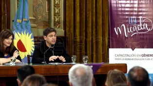 Kicillof dispuso que el Ministerio de las Mujeres implemente la Ley Micaela