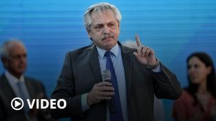 """Alberto Fernández: """"La primera deuda que tenemos los argentinos es con el pueblo"""""""