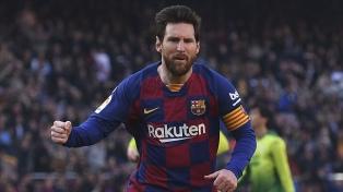 Messi marcó el gol del triunfo del Barcelona, que ahora es líder