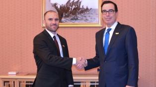 """Guzmán se reunió con el secretario del Tesoro de EEUU y destacó """"coincidencias"""""""