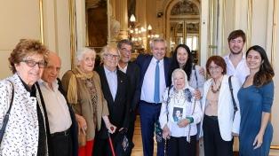 Fernández recibió a Nora Cortiñas y referentes de organismos de Derechos Humanos