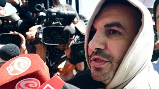 Fabián Tablado, al recuperar la libertad.