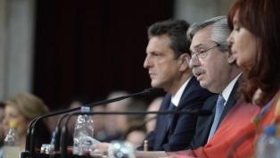 Ministros y dirigentes del oficialismo ponderaron los anuncios y valoran la ratificación del rumbo