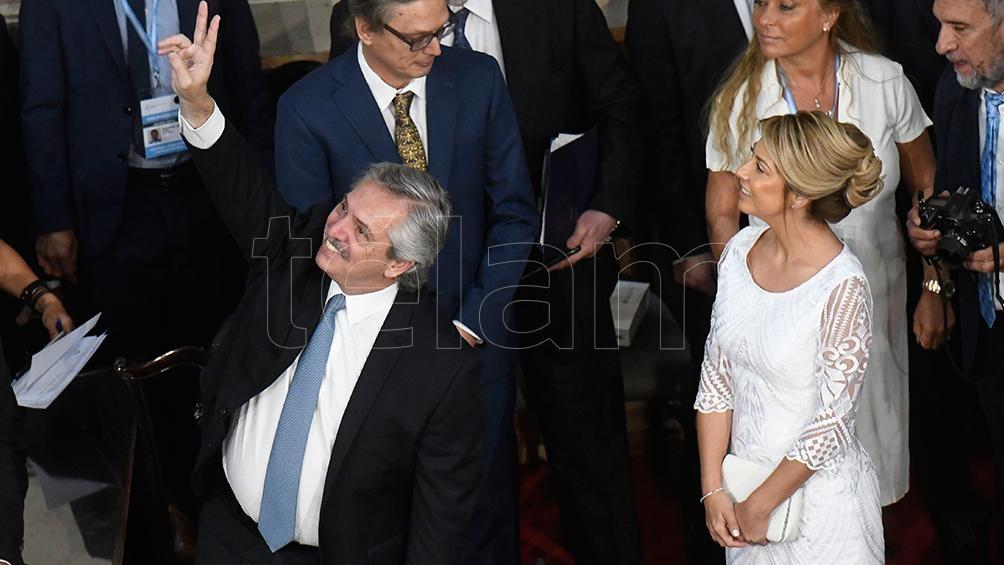 Junto a Alberto Fernández, en la Asamblea Legislativa.