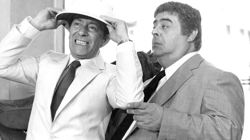 Porcel junto a Alberto Olmedo, otra figura indispensable del humor argentino.