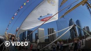 Cientos de personas disfrutaron del velero ruso Kruzenshtern