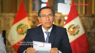 Perú someterá a referendo la eliminación de la inmunidad parlamentaria