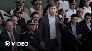 """Kicillof destacó la necesidad de una """"policía profesionalizada y jerarquizada"""""""