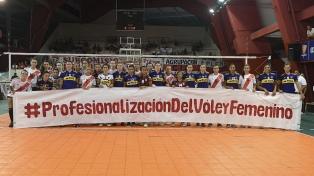 Boca y River unidos por un reclamo: la profesionalización del vóley femenino